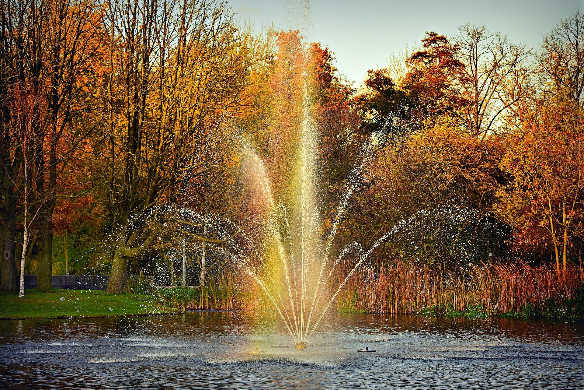 Jezírková fontána